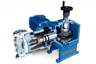 LEWA dosing pump with iglidur® X plain bearings